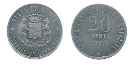 N2768 - Blois: Chambre De Commerce: 20 Ct 1918 (frappe Médaille) (SUP) - Monetary / Of Necessity