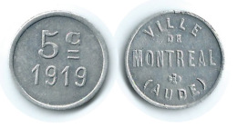 N2777 - Montréal: Ville: 5 Ct 1919 (SUP) - Monetary / Of Necessity