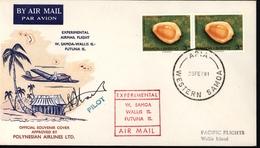 Vol Expérimental Avion Aviation Samoa Wallis Et Futuna Signature Pilote Polynésian Airlines Australie - Samoa