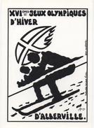 Illustrateur Jacques LARDIE (JIHEL) - JEUX OLYMPIQUES HIVER ALBERTVILLE - Manifestations