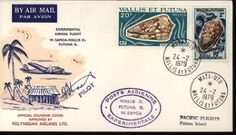 Vol Expérimental Avion Aviation Wallis Et Futuna Samoa Signature Pilote Polynésian Airlines Australie - Usati