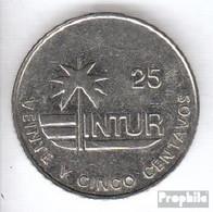 Kuba KM-Nr. : 418 1989 Typ 2a Sehr Schön Stahl Sehr Schön 1989 25 Centavos Palme - Kuba
