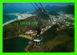 RIO DE JANEIRO, BRÉSIL - PANORAMIC VIEW WITH THE CABLE CAR OF PÂO DE AÇUCAR ROCK - TRAVEL IN 1980 - - Rio De Janeiro