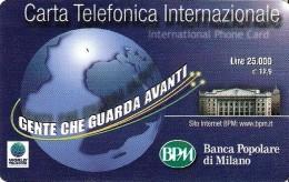 *ITALIA : WORLD TELECOM - BPM* - Scheda Usata - Italy