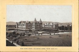 Photo Cartonnée: New York State Soldiers' Home, Near Bath N.Y. - Format 7,5 X 11,5 Cm - Places