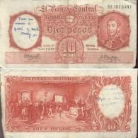 ARGENTINA - BILLETE DE 10 PESOS MONEDA NACIONAL  (649) - Argentina