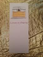 LOVE IN PARIS De NINA RICCI - Perfume Cards