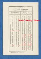 Carte Ancienne D' Horaires De Train - Gare De CHELLES Et Gare D' EMERAINVILLE - Direction Paris - 1913 - Historical Documents