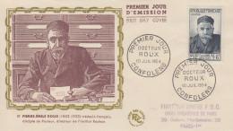 Enveloppe  FDC  1er  Jour   Docteur  ROUX    CONFOLENS   1954 - FDC