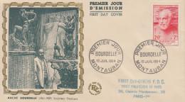 Enveloppe  FDC  1er  Jour   BOURDELLE   MONTAUBAN  1954 - FDC