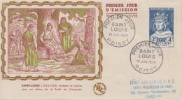 Enveloppe  FDC  1er  Jour   SAINT  LOUIS    POISSY   1954 - FDC