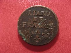 Liard De France A Paris - Double Frappe Côté Portrait 2441 - 987-1789 Monnaies Royales