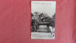 > Venezuela Caracas== RPPC--Simon Bolivar --- As Is Removed From Album    ----- Ref 2420 - Venezuela
