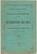 D 164 Recueil Pour La Distribution Des Prix à L'institution Ste Geneviève à Blois En 1929 - Autres Collections
