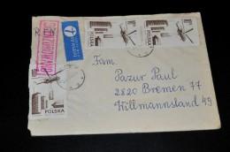 2- Umschlag/Schreiben (OCENZUROWANO) Von Polska Nach Bremen - 1944-.... Republik
