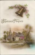 Joyeuses Pâques  - (cachet Postal De Frasnes-lez-Buissenal + Taxe) - (scan Verso) - Easter