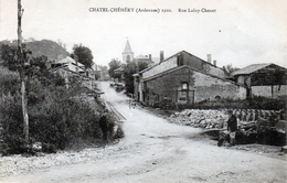 Cpa (08)  Chatel-chehery  1920  Rue Laloy-chenet - Other Municipalities
