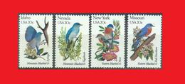 USA 1982 Birds & Flowers, Oiseaux & Fleurs, Merlebleu Bluebird MNH ** - Passereaux