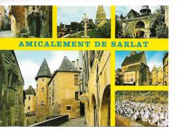 24 AMICALEMENT De SARLAT-en-PERIGORD, Pays Des Truffes Et Des Chateaux/ CPM Yvon Multivues-6- écrite N.D.  TTBE - Sarlat La Caneda