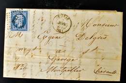 Lettre - Napoleon N°14 BORD DE FEUILLE - GIGNAC - PC 1395 - (B42-L1) - Postmark Collection (Covers)