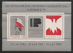 Poland: 1979 Polish People's Republic Katowice '79 Miniature Sheet MNH - 1944-.... République