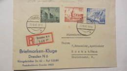 DR 33-45: R-Fern-Bf Mit 6,12,25 Pf Leipziger FM 1940 OSt. Dresden 31.10.40 Nach Höchst, Rs. EingangsSt.,  Knr:742 Ua. - Deutschland