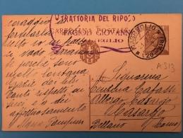 CARTOLINA POSTALE -MAGREGLIO-TRATTORIA  DEL RIPOSO Di FAGIOLI GIOVANNI-21-7-1930 - 4. 1944-45 Repubblica Sociale