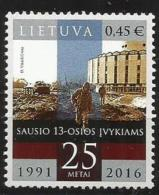 Litauen, 2016, 1210,  25. Jahrestag Der Ereignisse Vom 13. Januar 1991. MNH ** - Lituania