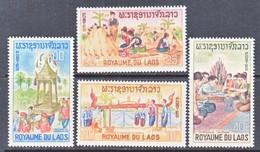 LAOS  129-32  *  BUDDHIST  MONKS - Buddhism