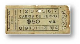 Carris De Ferro - $50 - Tramway Ticket - Serie KP - RADAR 62326 CAPICUA - Lisboa Portugal - Tranvías