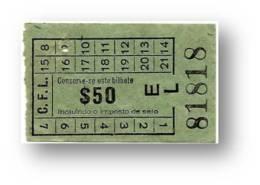 C. F. L. - Carris De Ferro De Lisboa - $50 - Tramway Ticket - Serie EL - RADAR 81818 CAPICUA - Portugal - Tranvías