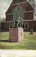 Boston - Harvard University - Statue Of John Harvard - Carte Non Circulée - Boston