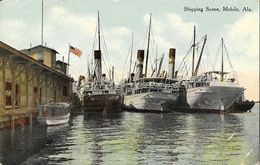 Shipping Scene - Boats Docked - Mobile AL - Mobile