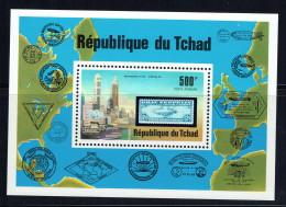 1977  Zeppelin Bloc-feuillet Poste Aérienne ** - Chad (1960-...)