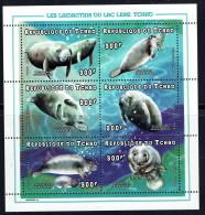 1998  Lamantin - Manatee  Mini-feuillet De 6 Différents ** - Chad (1960-...)