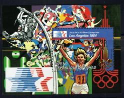 1982  Jeux Olympiques De Moscoou  - Course à Relais - Bloc-feuillet  ** - Chad (1960-...)