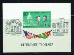 1962  Visite Du Président Olympio Aux USA - JF Kennedy - Bloc-feuillet  ** - Togo (1960-...)