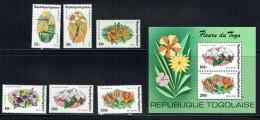 1975  Fleurs Du Togo  - Série Complète Et  Bloc-feuillet  ** - Togo (1960-...)
