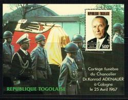 1987  K. Adenauer  Bloc-feuillet ** - Togo (1960-...)