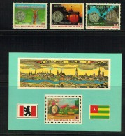 1987  750è Ann Ville De Berlin - Série Compète Et Bloc-feuillet ** - Togo (1960-...)