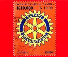 ZAMBIA - Usato - 2013 - 50 Anni Del Rotary International In Zambia - 10 - Zambia (1965-...)