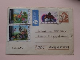 Briefomslag / Enveloppe POZNAN / Antwerpen ( Format PK / Zie Foto´s Voor Details ) - Airmail