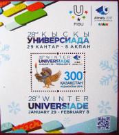 Kazakhstan  2016  28th Winter  Universiade   Parrots  S/S   MNH - Papageien