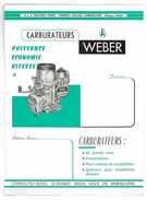 FEUILLET PUB TARIF CARBURATEURS WEBER - Sports & Tourisme