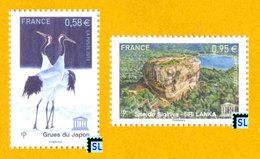France Stamps 2013, Site Of Sigiriya Sri Lanka And Cranes Of Japan, MNH - Other