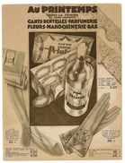 CATALOGUE AU PRINTEMPS MARDI 14 FEVRIER 19?? GANTS DENTELLES PARFUMERIE FLEURS MAROQUINERIE BAS - Textile & Clothing