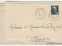 Lettre Envoyée Par Melle Maury, De Chamberet, Corrèze, à Rancon, Haute-Vienne,  à Monsieur Et Madame Reynaud. 7/5/45 - 1939-45