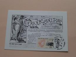 WERKERSWELZIJN Socialistisch Weekblad Arr. BRUGGE 100 Jaar FEEST Van De ARBEID 1990 ( Zie Foto Voor/pour Détails ) !! - Cartes Souvenir