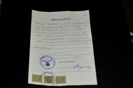 268- Geburtsurkunde Aus Hückeswagen - Documenti Storici
