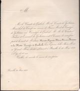 Henriette Bruneau De La Motte Vicomtesse De Quabeeck + Bruxelles 16/5/1843 68 Ans Golstein Maréchal De Camp France Goupy - Obituary Notices